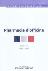 Pharmacie d'officine : convention collective nationale du 3 décembre 1997 (Etendue par arrêté du 13 août 1998) : IDCC 1996