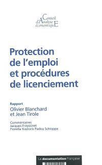 Protection de l'emploi et procédures de licenciement