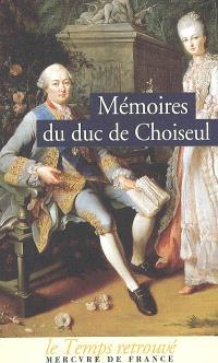 Mémoires du duc de Choiseul