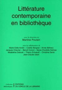 Littérature contemporaine en bibliothèque
