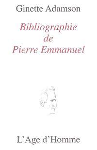 Bibliographie de Pierre Emmanuel