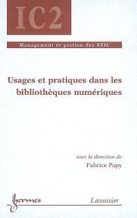 Usages et pratiques dans les bibliothèques numériques