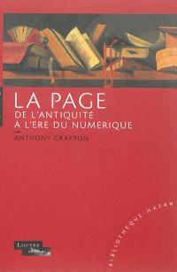 La page de l'Antiquité à l'ère du numérique : histoire, usages, esthétiques