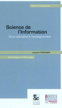 Science de l'information : de la discipline à l'enseignement