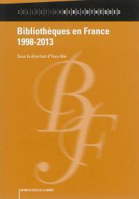 Bibliothèques en France, 1998-2013