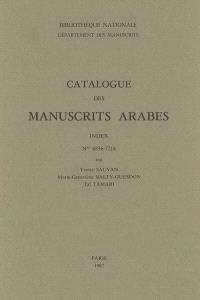 Catalogue des manuscrits arabes : index, n°6836-7214