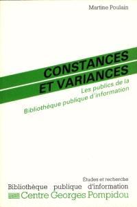 Constances et variances : les publics de la Bibliothèque publique d'information, 1982-1989