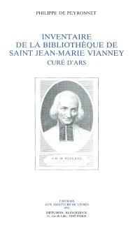Inventaire de la Bibliothèque de Saint Jean-Marie Vianney curé d'Ars