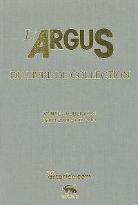 L'argus du livre de collection 2002 : ventes publiques juillet 2000-juin 2001