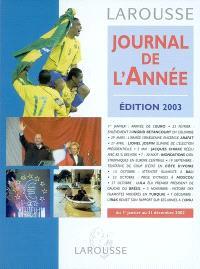 Journal de l'année 2002 : du 1er janvier au 31 décembre 2002