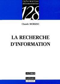 La recherche d'information
