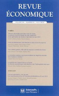 Revue économique. n° 64-2, Varia