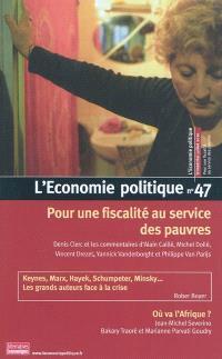Économie politique (L'). n° 47, Pour une fiscalité au service des pauvres