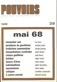 Pouvoirs. n° 39, Mai 68