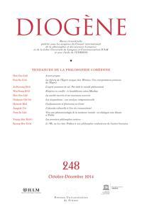 Diogène. n° 248, Tendances de la philosophie coréenne
