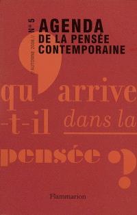 Agenda de la pensée contemporaine. n° 5
