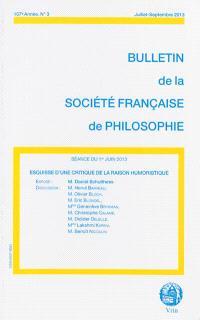 Bulletin de la Société française de philosophie. n° 3 (2013), Esquisse d'une critique de la raison humoristique : séance du 1er juin 2013