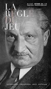 Règle du jeu (La). n° 58-59, Heidegger et les Juifs