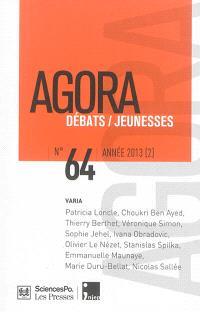 Agora débats jeunesse. n° 64