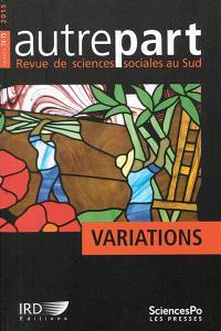 Autrepart. n° 74-75, Variations
