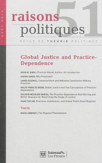 Raisons politiques. n° 51, Global justice & practice-dependence