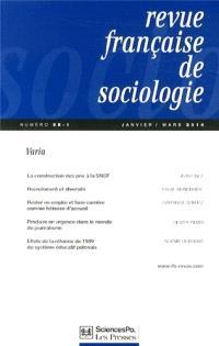 Revue française de sociologie. n° 55-1
