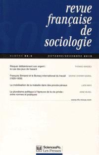 Revue française de sociologie. n° 56-4