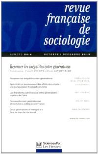 Revue française de sociologie. n° 54-4, Repenser les inégalités entre générations