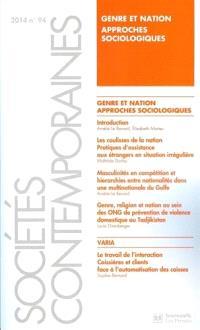 Sociétés contemporaines. n° 94, Genre et nation : approches sociologiques