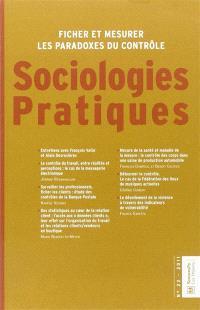 Sociologies pratiques. n° 22, Ficher et mesurer les paradoxes du contrôle