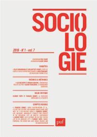 Sociologie. n° 1 (2016)
