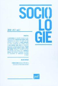 Sociologie. n° 3 (2010)