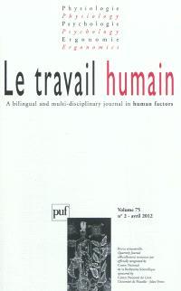 Travail humain (Le). n° 2 (2012)