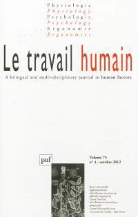 Travail humain (Le). n° 4 (2012)