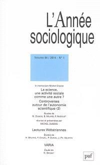 Année sociologique (L'). n° 1 (2014)