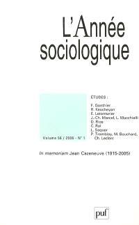 Année sociologique (L'). n° 1 (2006)