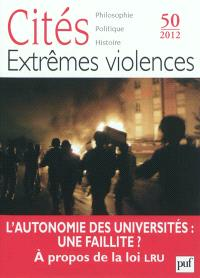 Cités. n° 50, Extrêmes violences