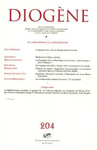 Diogène. n° 204, De l'Asie centrale à la Méditerranée