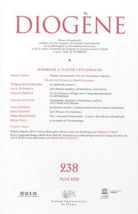 Diogène. n° 238, Hommage à Claude Lévi-Strauss