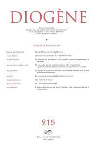 Diogène. n° 215, La dignité en question