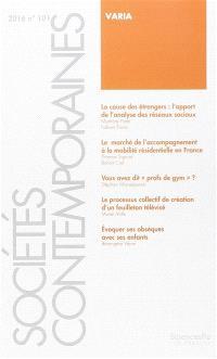 Sociétés contemporaines. n° 101