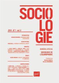 Sociologie. n° 1 (2014), Sociologie de l'islamophobie