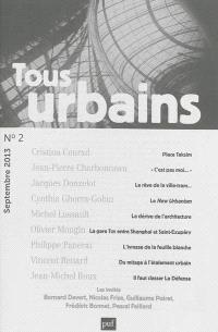 Tous urbains. n° 2 (2013)