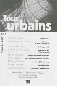Tous urbains. n° 3 (2013)