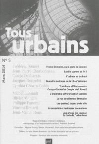Tous urbains. n° 5 (2014)