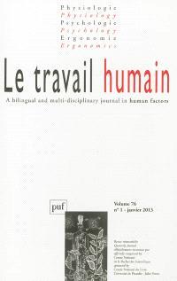 Travail humain (Le). n° 1 (2013)
