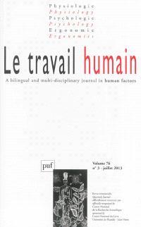 Travail humain (Le). n° 3 (2013)