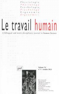 Travail humain (Le). n° 4 (2013)