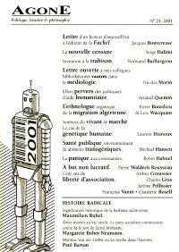 Agone. n° 25
