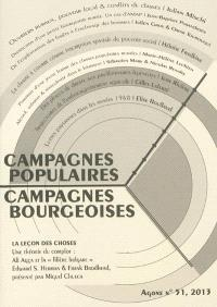 Agone. n° 51, Campagnes populaires, campagnes bourgeoises